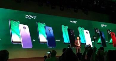 Nova família Moto G7 da Motorola