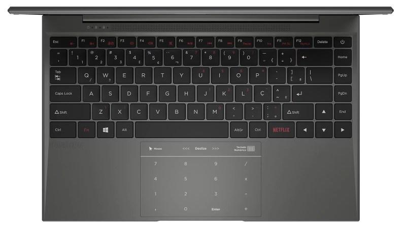 Positivo Motion C e Positivo Motion Q têm teclas de acesso rápido e touchpad com função numérica