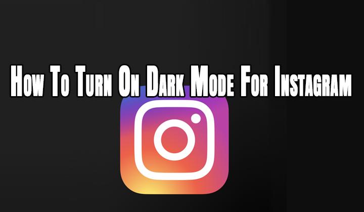 Как включить темный режим для Instagram