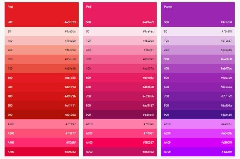 trendy colors in app