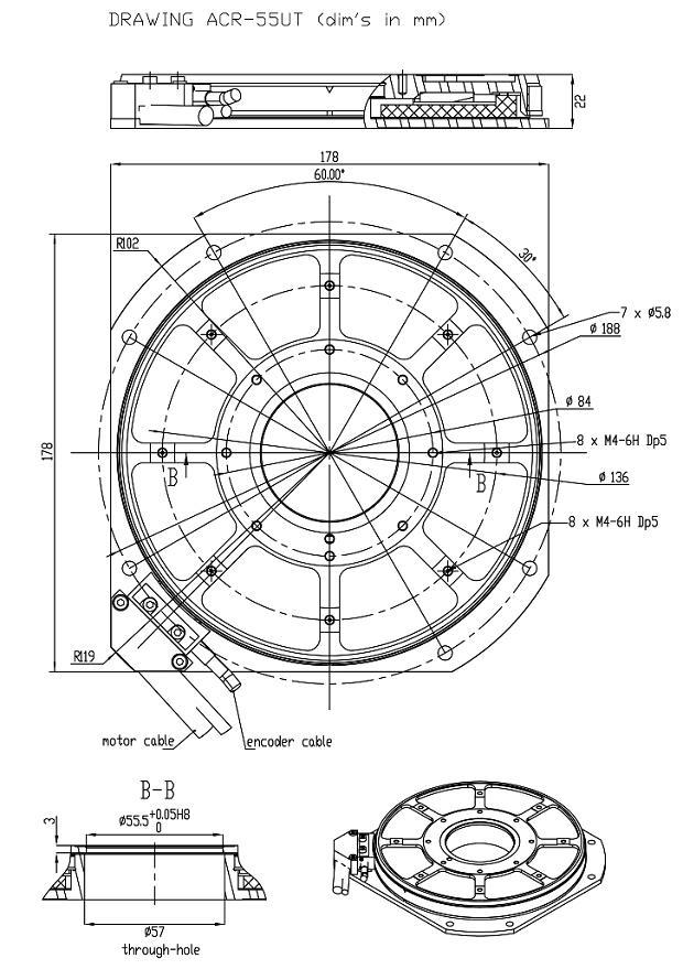 Rotary table ACR-55UT (Ultrathin)