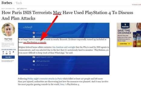 Updated: Even a false piece in Forbes about the PS4 can increase dogmatism.