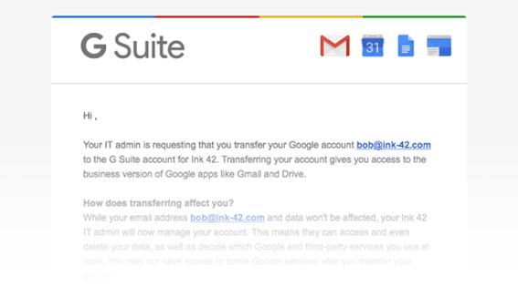 Transferir usuarios G Suite