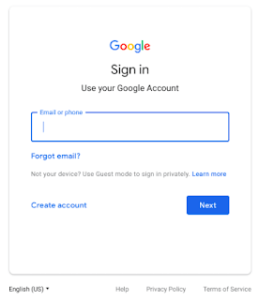 New Google Sign-In Screen