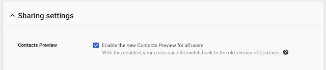 nuevo Contactos de Google