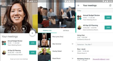 Google hangouts meet videoconferencing