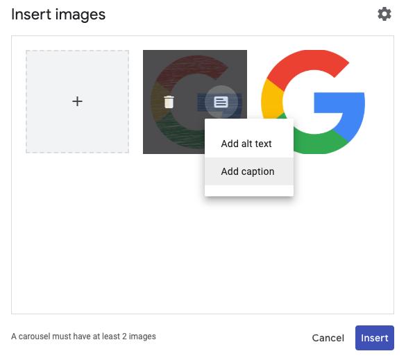 Novas funções Google Sites