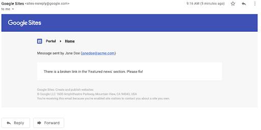 Nuevas funciones Google Sites