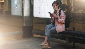 Teleste's smart bus stop built at Nokia Campus in Espoo, Finland