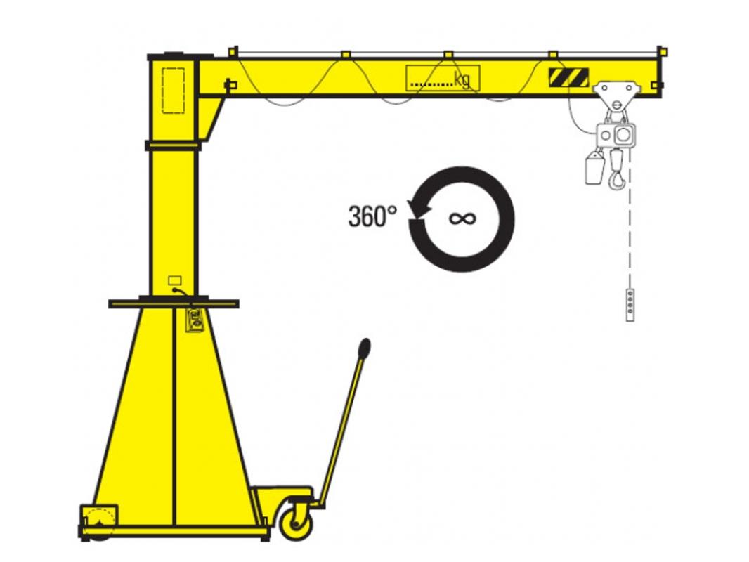 hight resolution of mobile jib crane