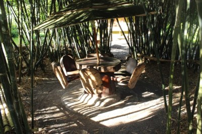 Bamboo circle table