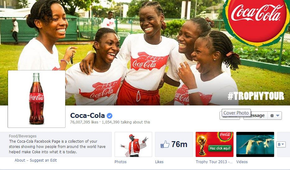 Coca-Cola-Facebook-Page-IntelligentHQ