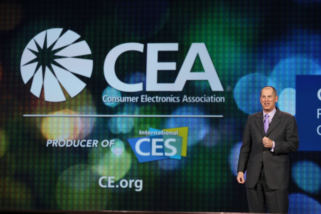 Gary Shapiro, CEA's President and CEO, introduces the Intel keynote address at the 2014 CES.