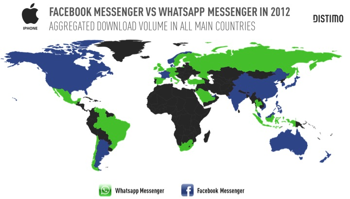 Why Facebook likes Whatsapp graphic by Distimo