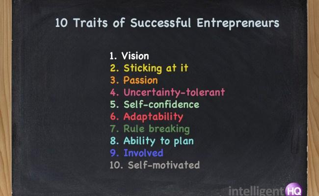 10 Traits Of Successful Entrepreneurs