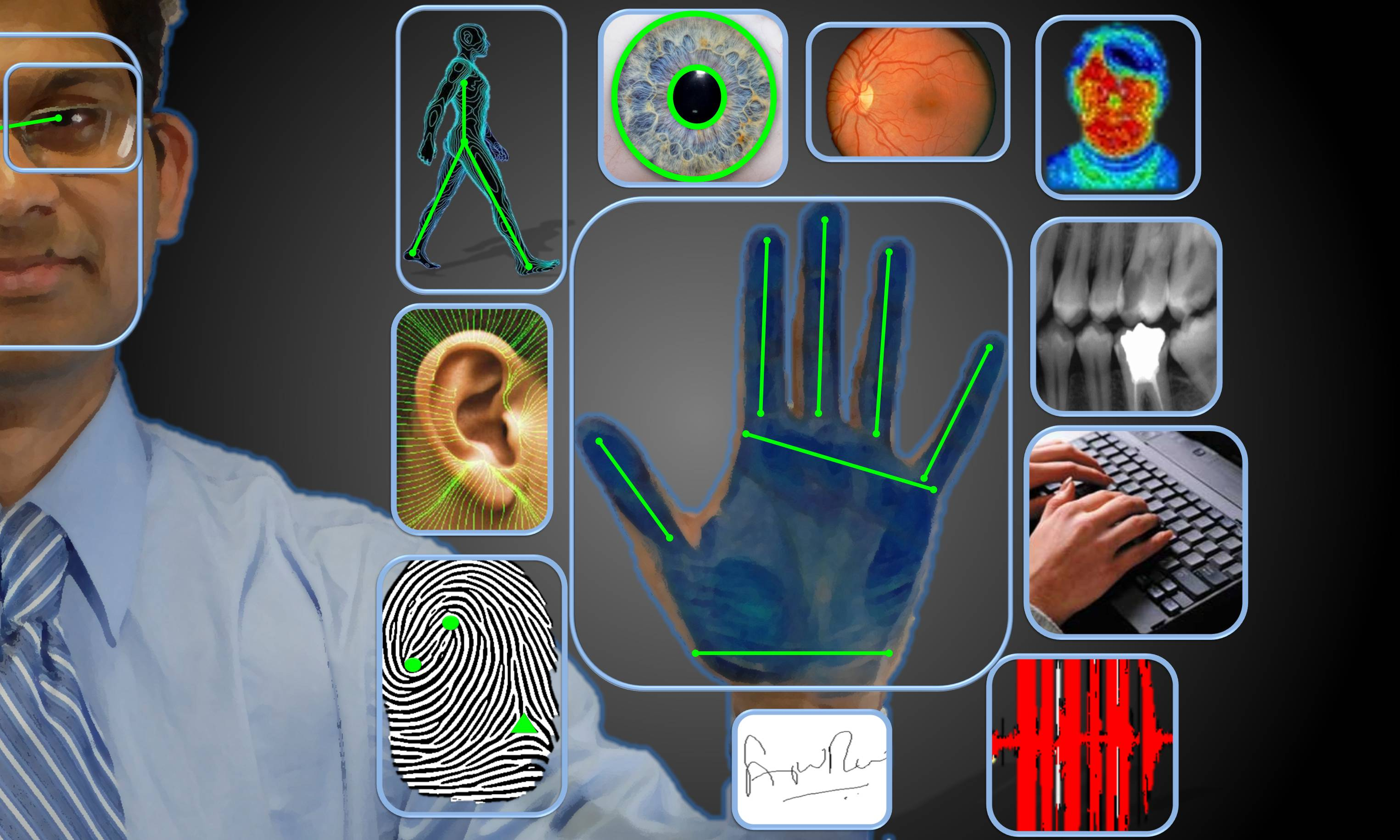 Multimodal biometric systems use more than one biometric method to recognise the person.