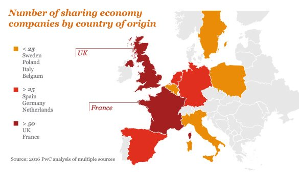 number of sharing economy companies Europe - The Nordics Embrace the'Sharing Economy'