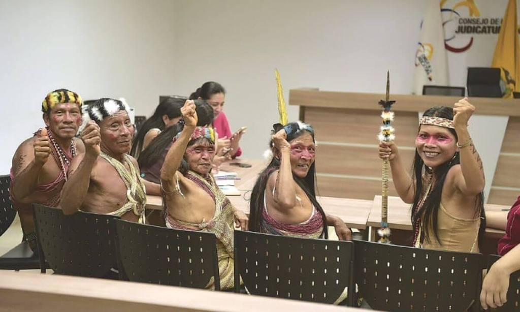 Waorani indigenous people won a case against big oil companies and the Ecuadorian government to protect ancestral amazon land