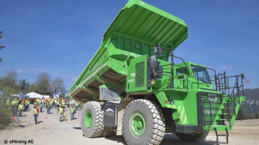 the eDumper electric dump truck
