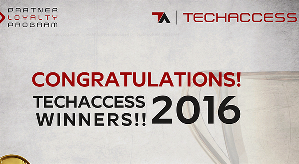 TechAccess announces winners of 2016 Partner Loyalty Rewards programme