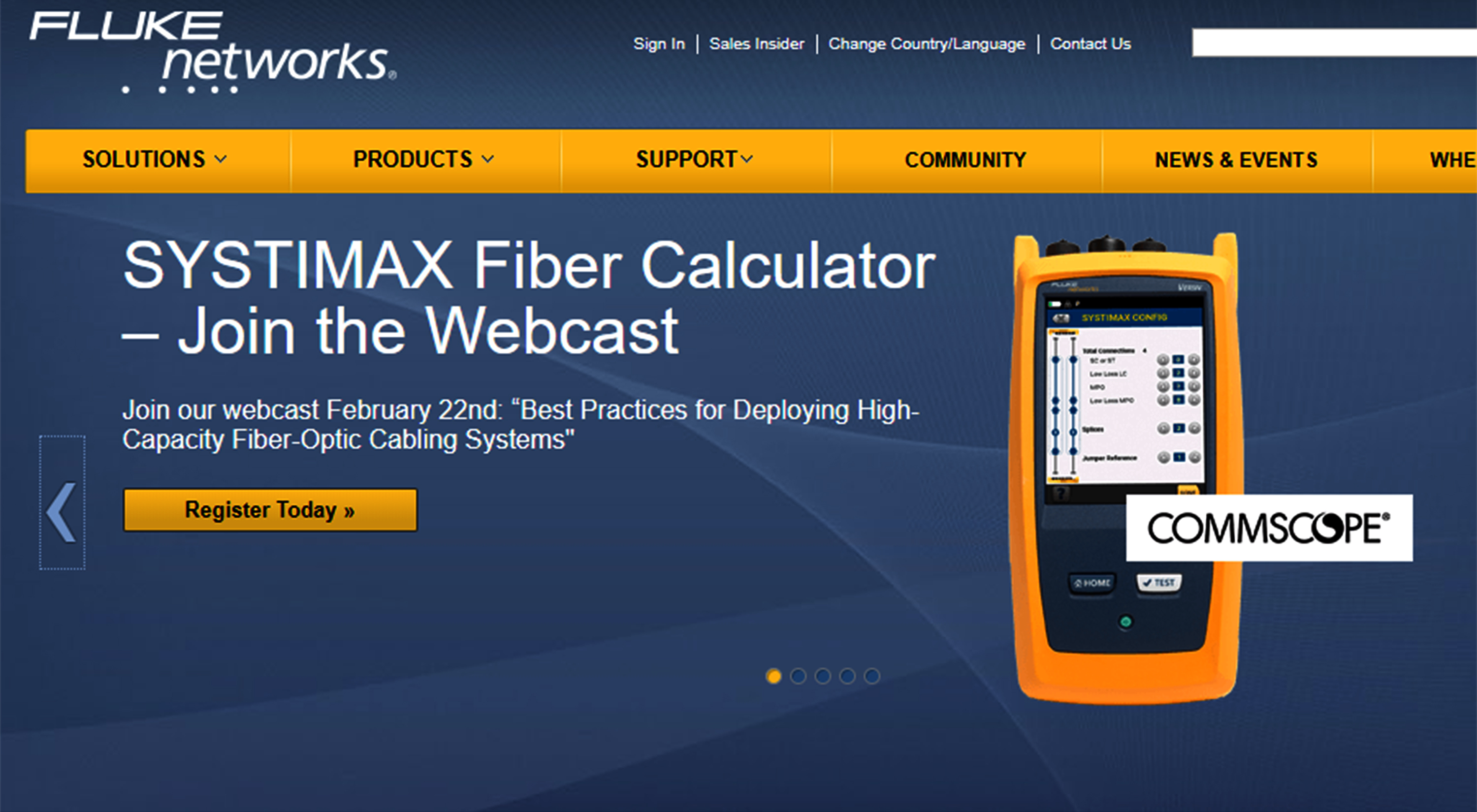 Commscope Partners With Fluke Networks To Improve Certification Of