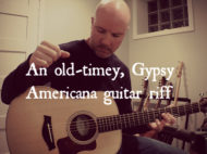 An old-timey, Gypsy Americana guitar riff Thumb