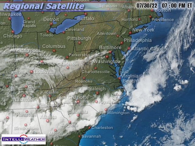 Hurricane Irene 2011 – now tropical storm with 50 mph winds
