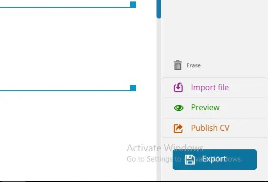 Europass CV Export Button
