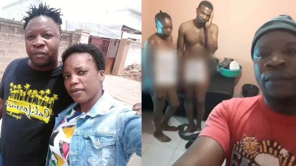 Man takes a selfie with his cheating wife and best friend after he caught them red-handed (photo)