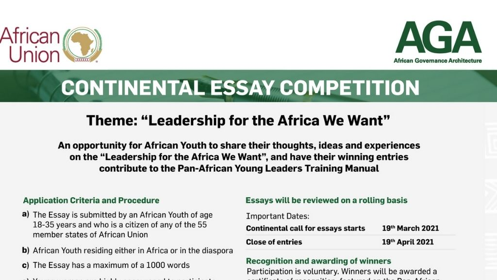 Continental Essay Competition