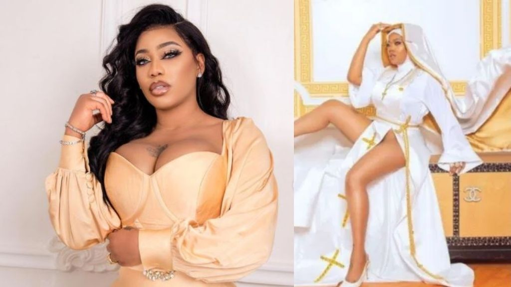 Toyin Lawani loses dad days after storming IG with racy nun outfit