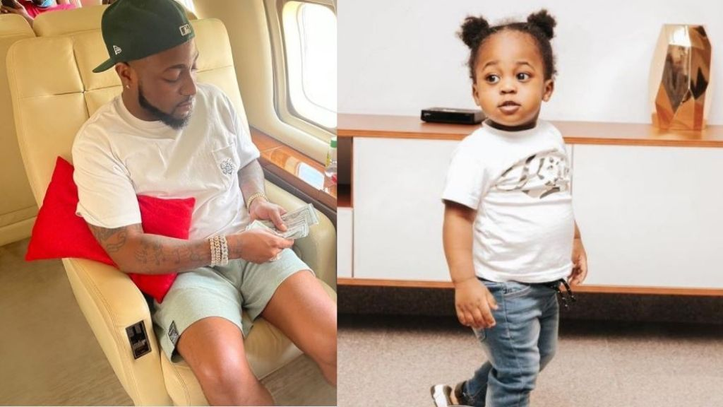 Reactions as Davido declares Chioma's son, Ifeanyi his 'HEIR APPARENT'