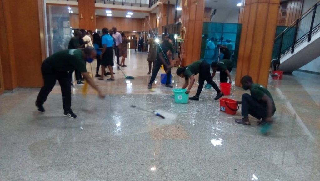 National Assembly roof leak
