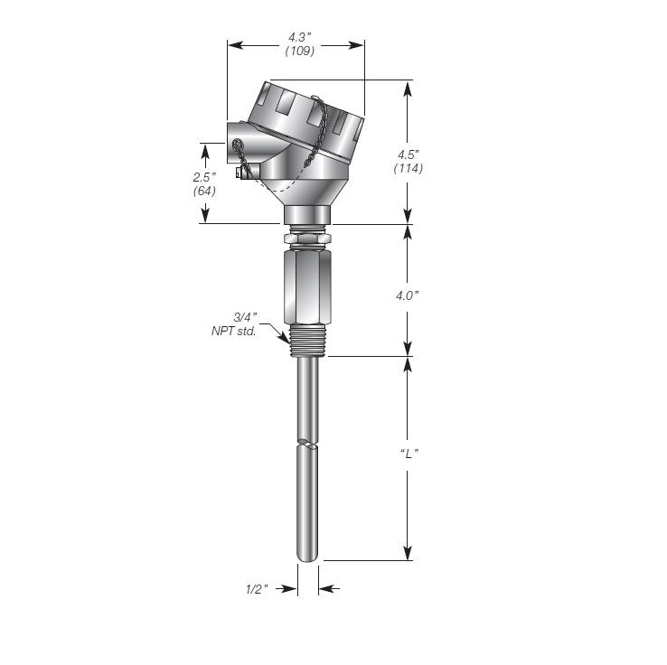 Capacitance Level Transmitter for Steam Boiler