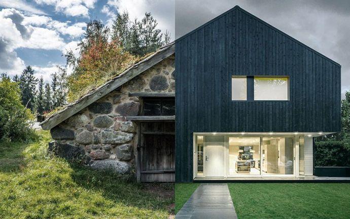 La arquitectura pasiva y la arquitectura tradicional.