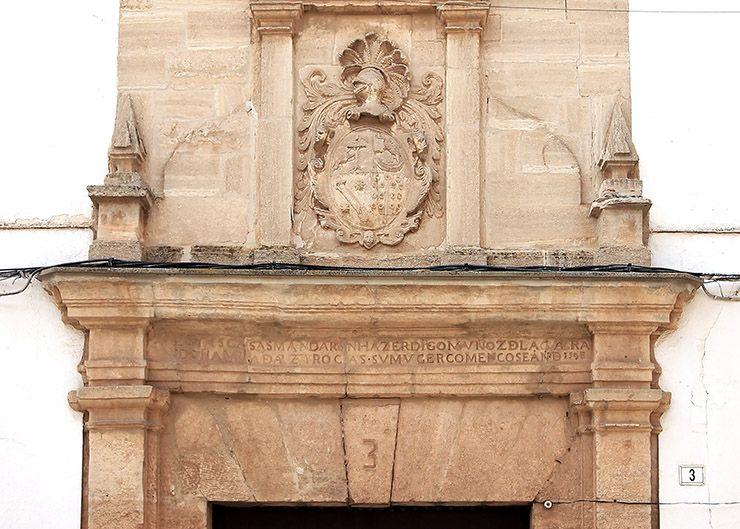 Portada de la casa de los Muñoz-Arce.