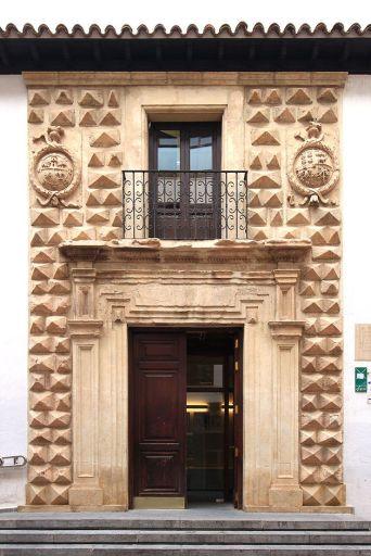 Fachada de la Casa de los Picos de Albacete, hoy en día en la Posada del Rosario.