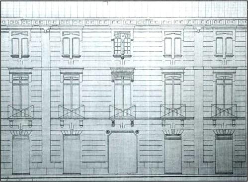 Plano de la casa de Ramón Casas Massó en la Calle Ancha de Albacete.