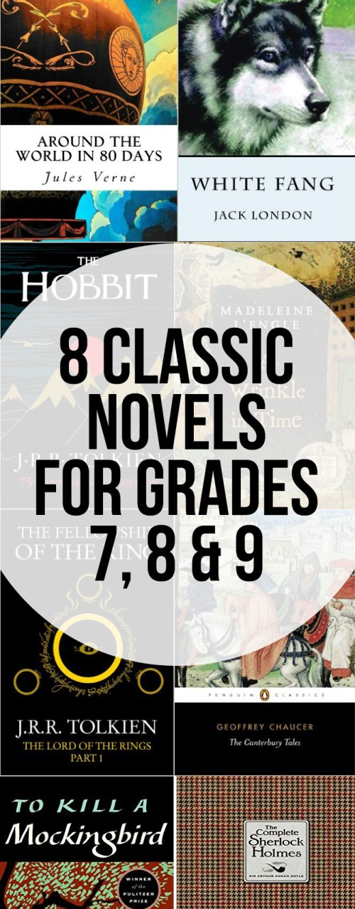 Great classic novels for grades 7, 8 & 9. Perfect for those between the middle grade and young adult novels.