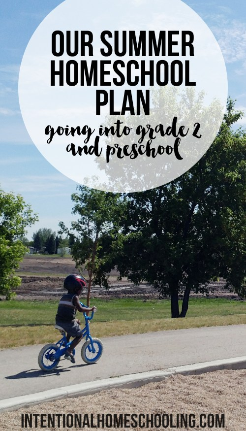 Our Homeschool Summer Plan - what we're planning for the summer for grade 2 and preschool