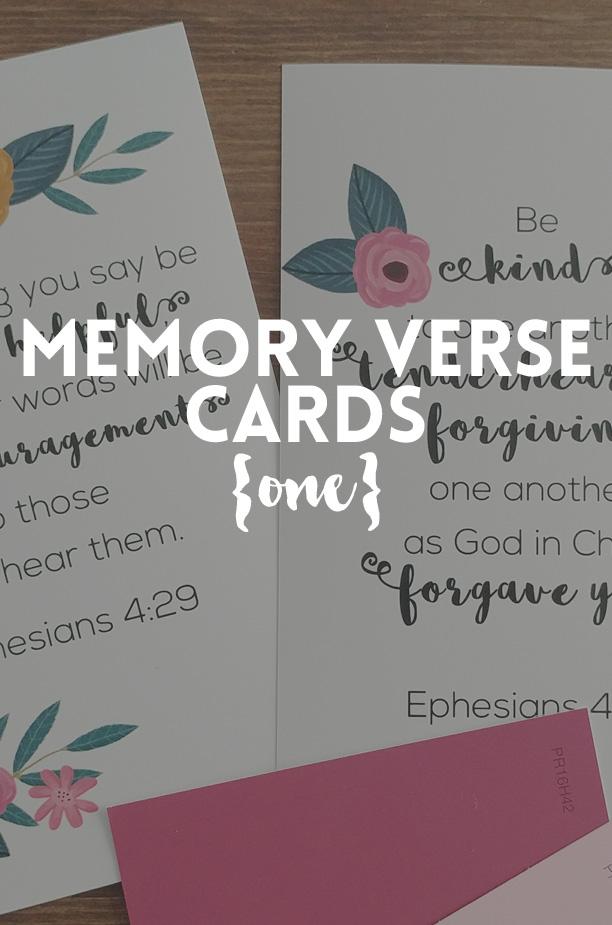 Memory Verse Cards - Printable Verses