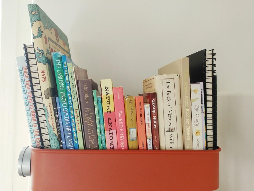 Our Homeschool Cart & Daily Homeschool Resources