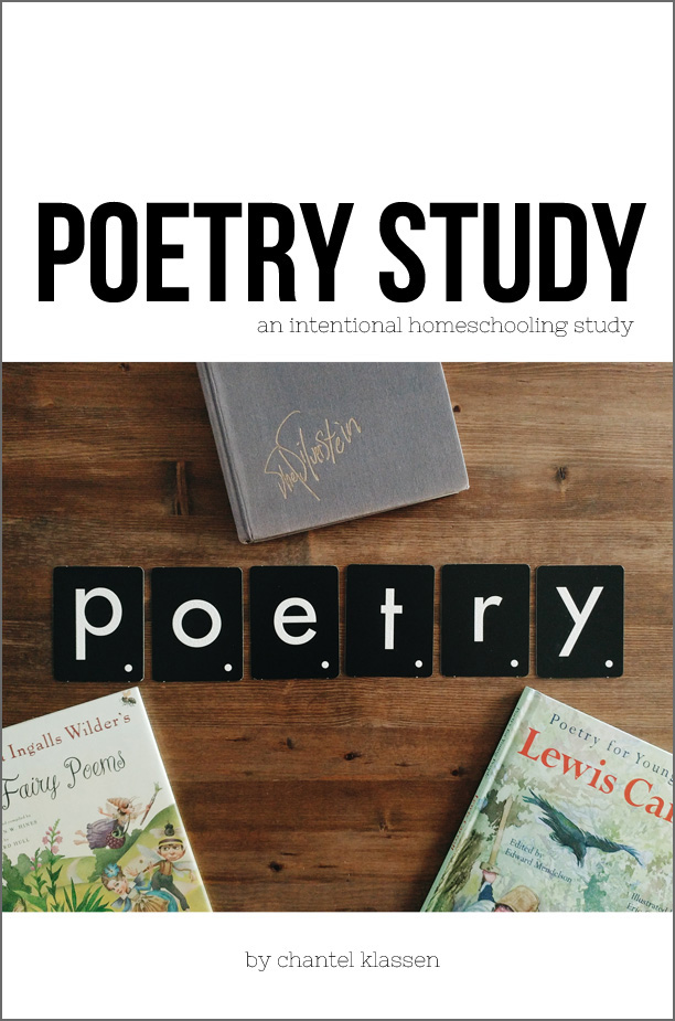 A great Poetry Study for incorporating poetry into your homeschool! Includes ten lessons that have everything you need for adding poetry into your homeschool!