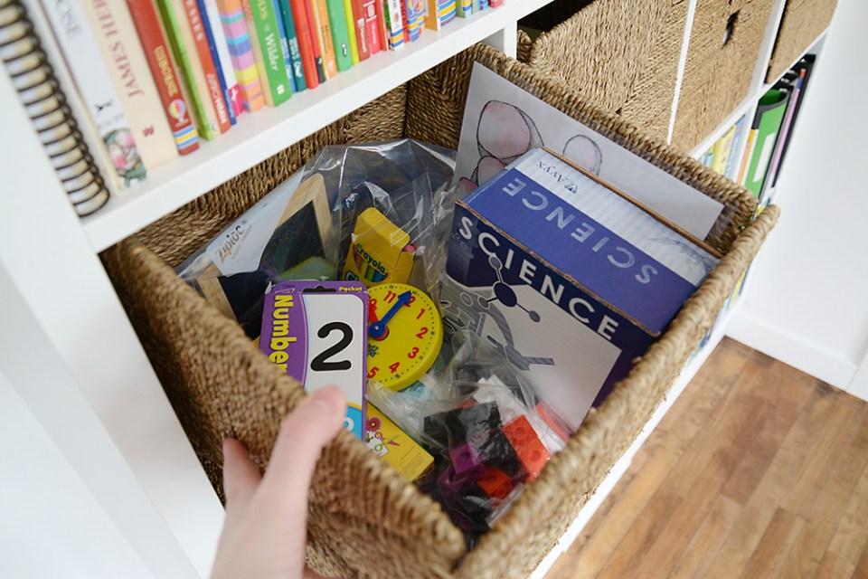Minimalist Homeschool Room Tour - Intentional Homeschooling
