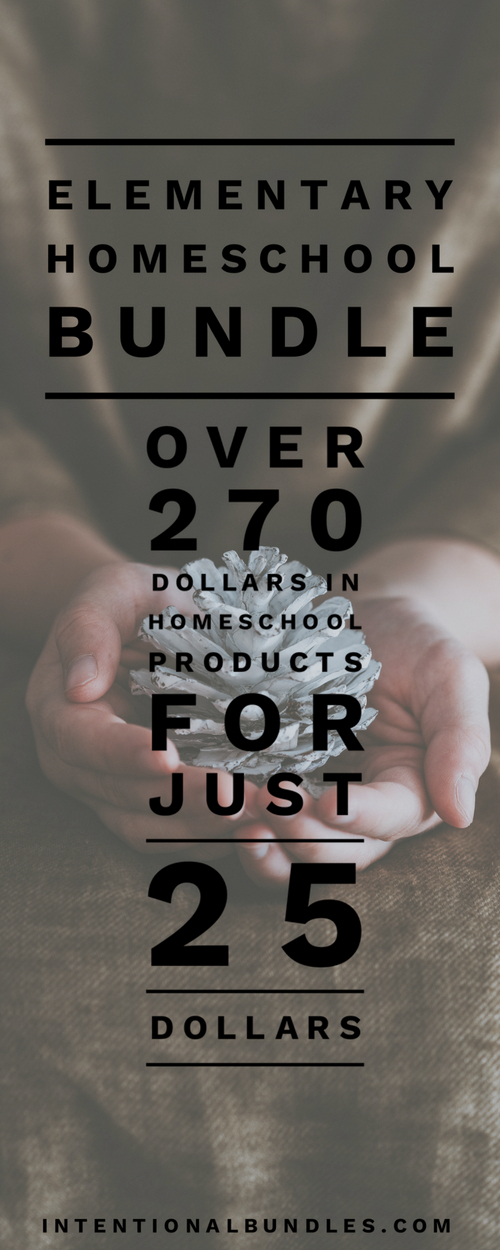 Elementary Homeschool Bundle Sale - a great deal on a ton of elementary homeschool products