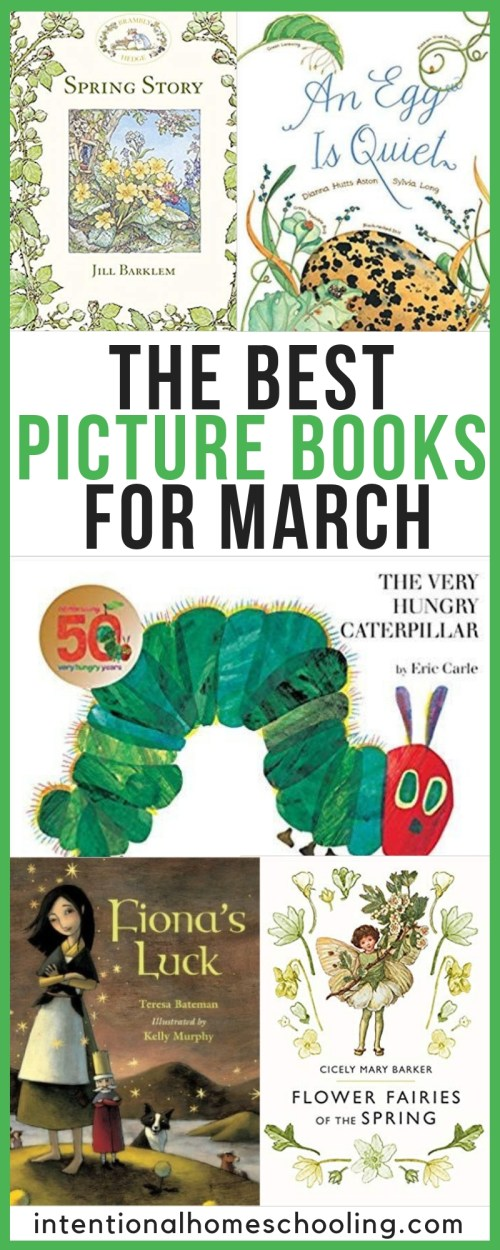 The Best Picture Books to Read in March - picture books about St. Patrick's Day, the coming of spring and more!