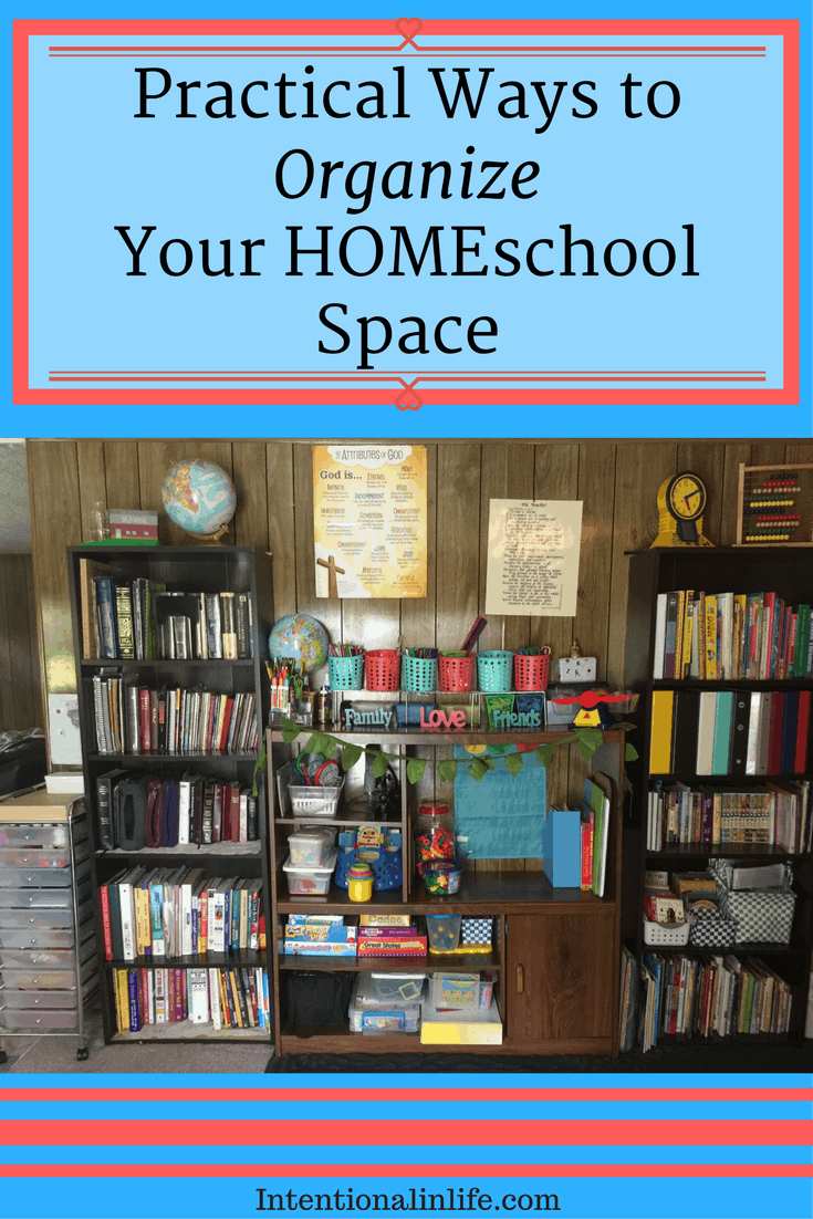 Here are some practical ways to organize your HOMEschool space while creating a loving, relaxing and enjoyable space in your home.