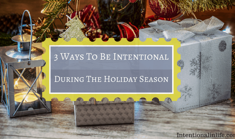 The holiday season is a wonderful time of family, friends and celebration. Don't let the busyness of the season overtake you. Focus on what truly matters.