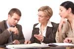 business meeting 2 - 2 woman, 1 man