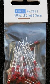 LED Ø 3 mm red approx. 50 pieces